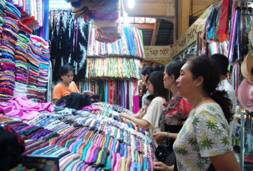 The cloth in ben thanh market