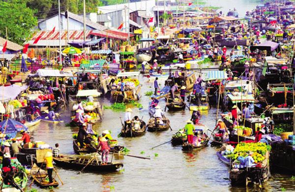 Nga Nam floating market – Soc Trang