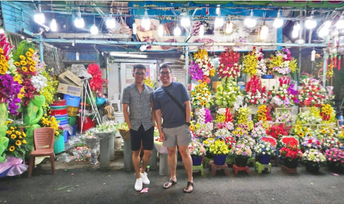 Ho Thi Ky flower market in Saigon