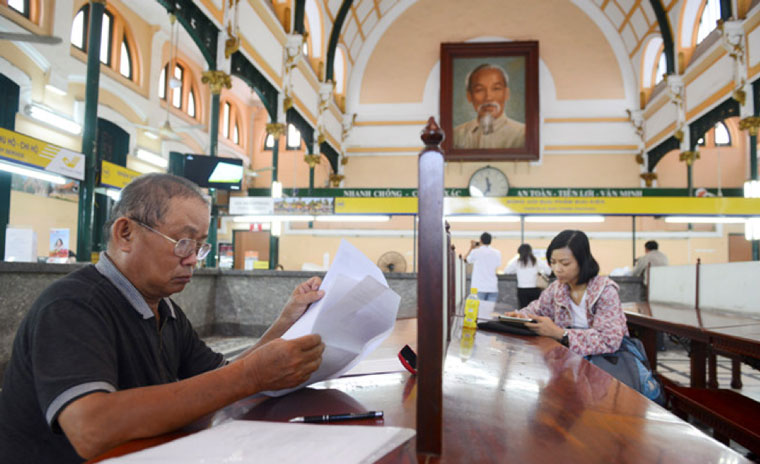 The Activity in saigon central post office