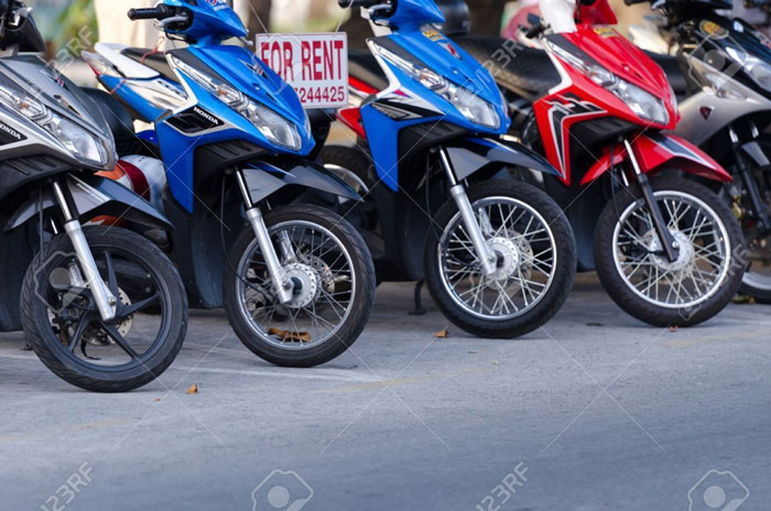 Procedures for renting self-driving motorbikes