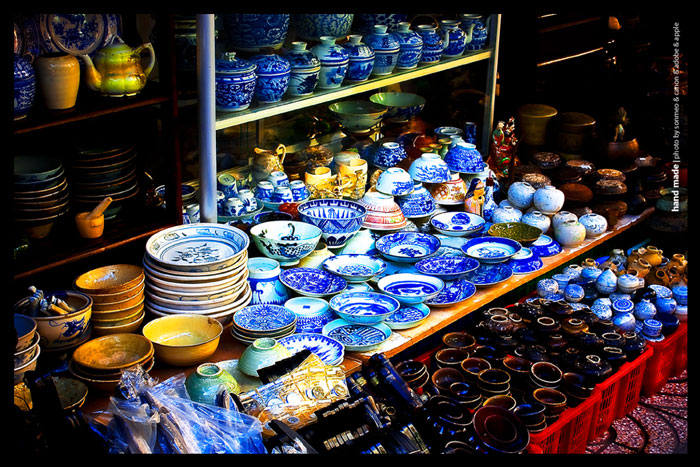 The old crockery in le cong kieu street