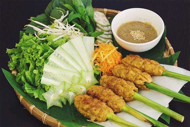 Hue lemongrass skewer